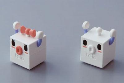 索尼预热机器人玩具toio:小方块造型/简易编程