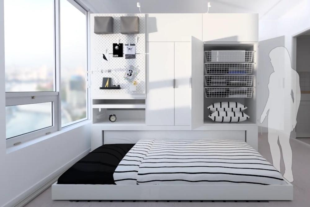 宜家推出机器人家具系统 帮你把卧室面积变大