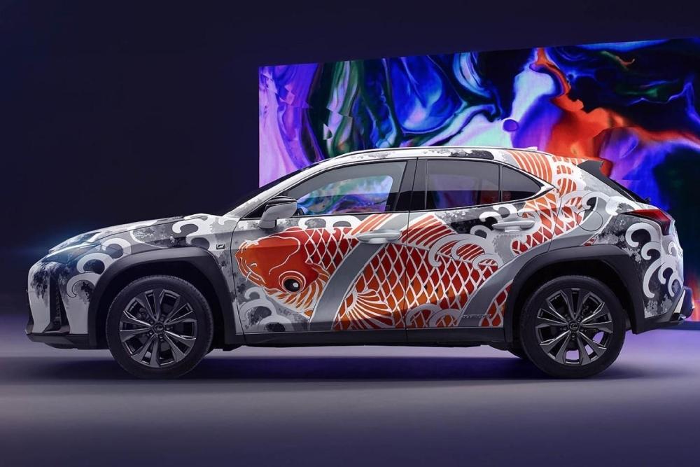 雷克萨斯打造全球首款纹身汽车
