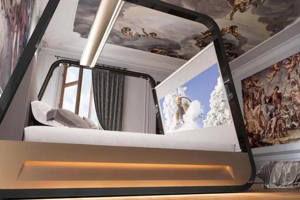 宅男的终极梦想:一张床解决你的一切需求!