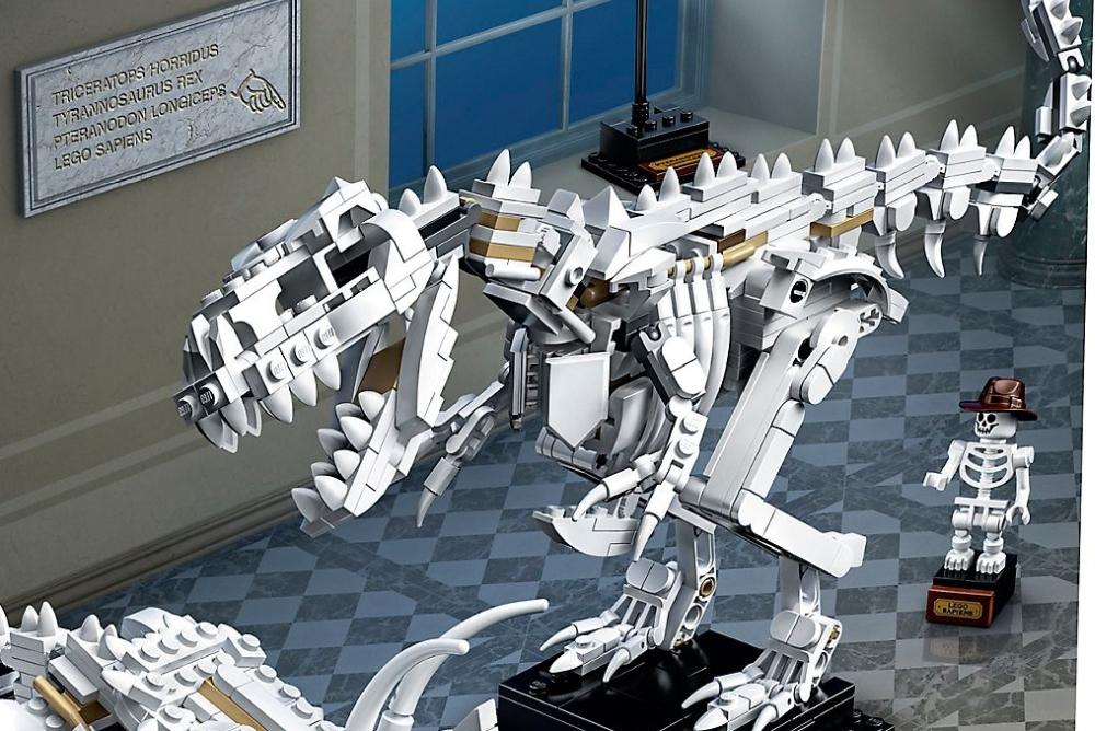 乐高推出恐龙化石积木套装