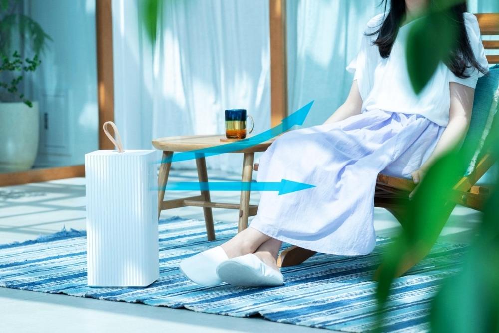 在吹不到冷气的地方 可以带上这款便携式空调