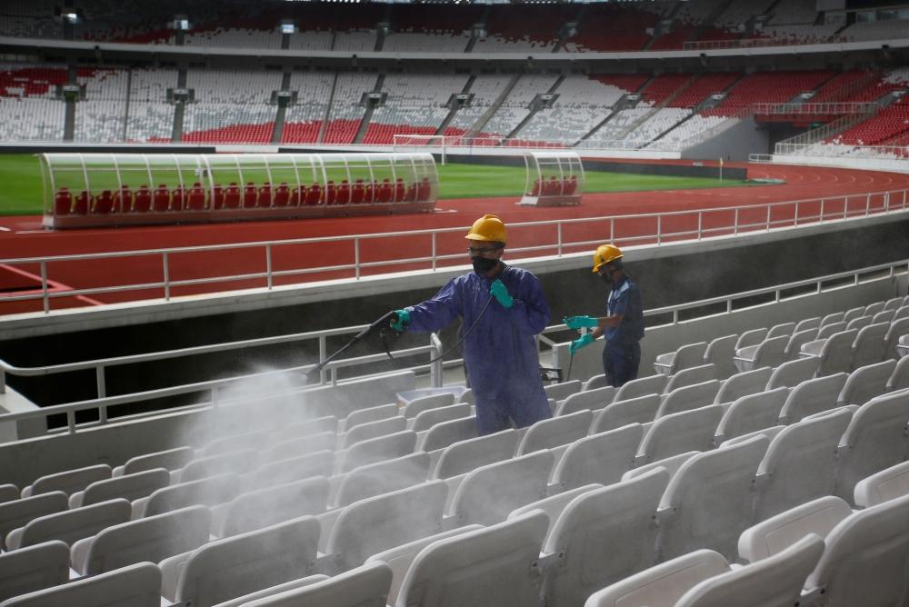 疫情之下举行的体育赛事 是一次高科技技术的完美运用