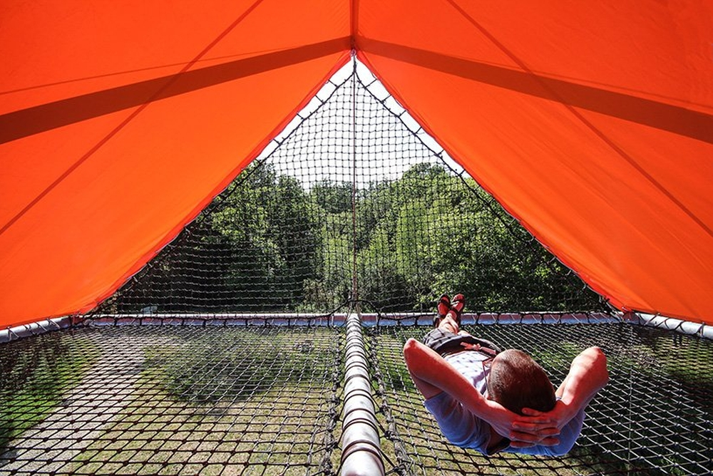 总面积50平米的大型双层帐篷