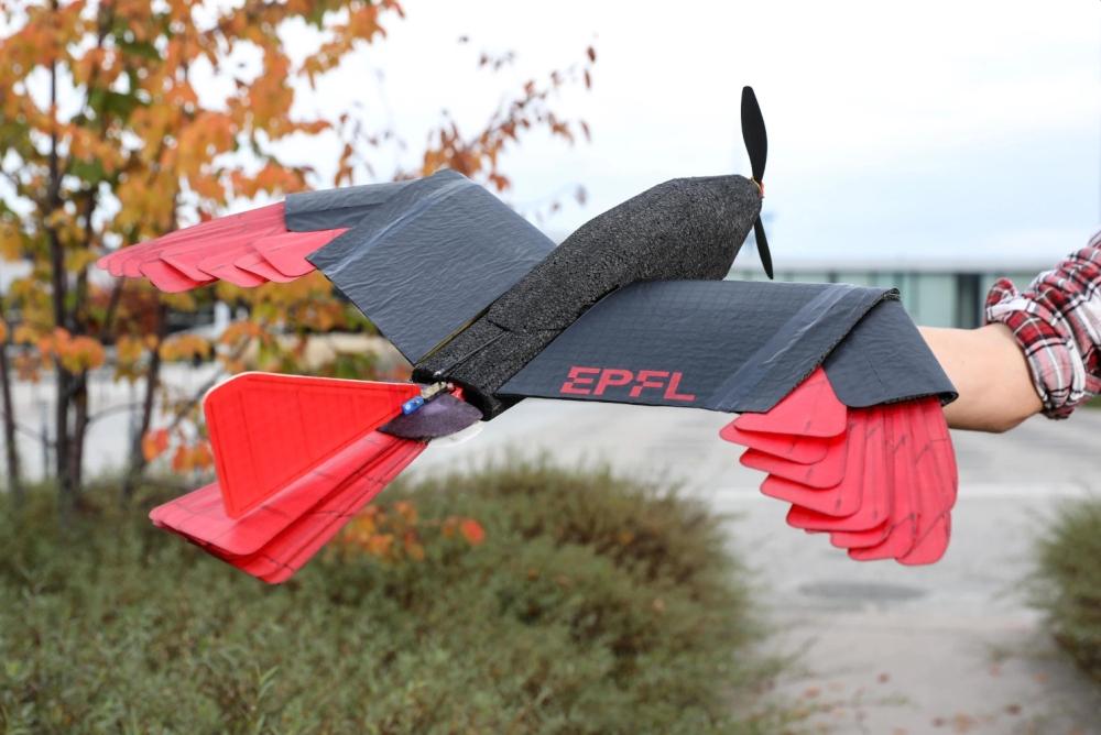 EPFL羽毛无人机改进版来了:能如同猛禽般翱翔天空