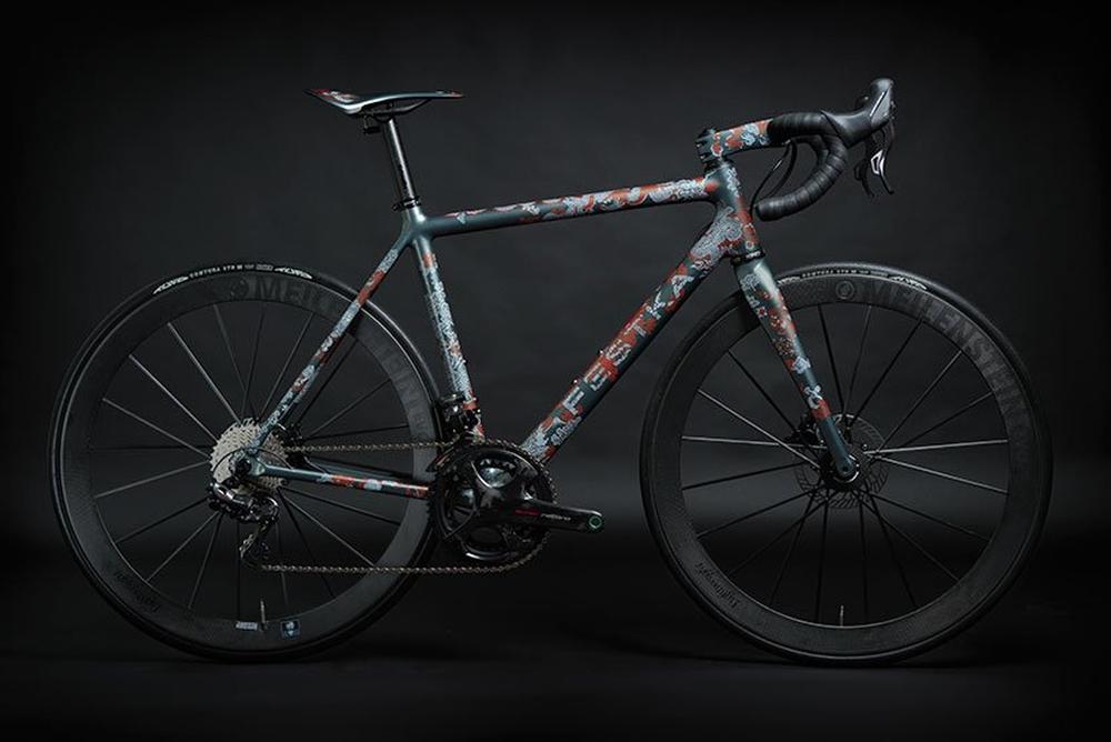 超精致手繪亞洲風花紋自行車