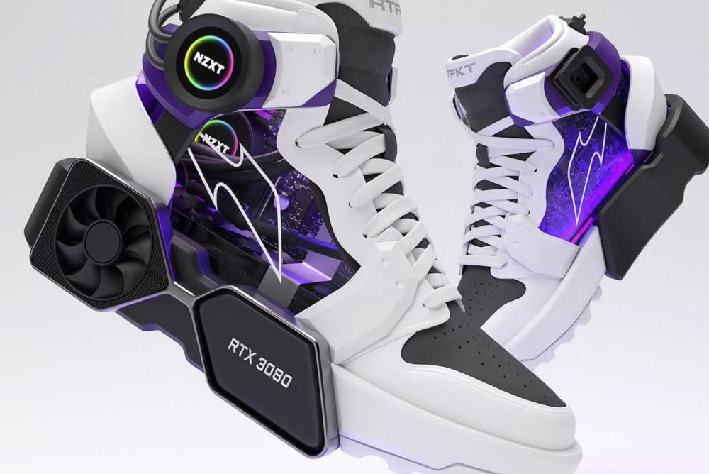 鞋厂制作出带有RTX 3080显卡散热器造型的运动鞋