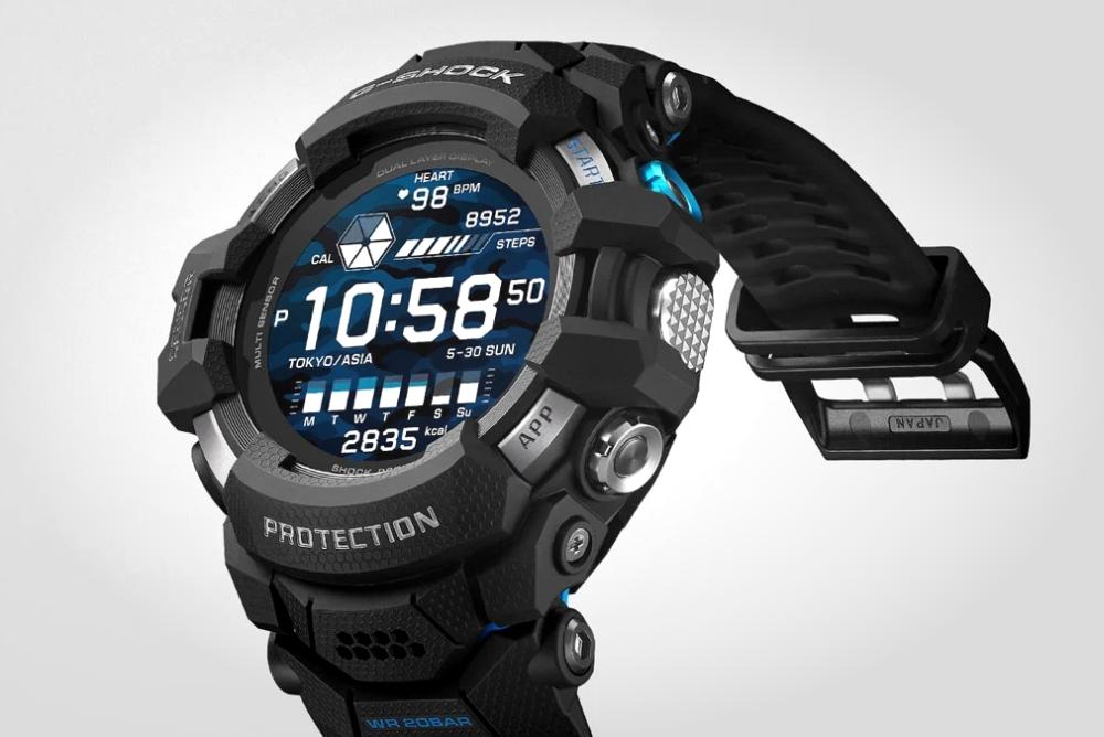 卡西欧发布首款彩屏G-Shock:Wear OS加持智能手表