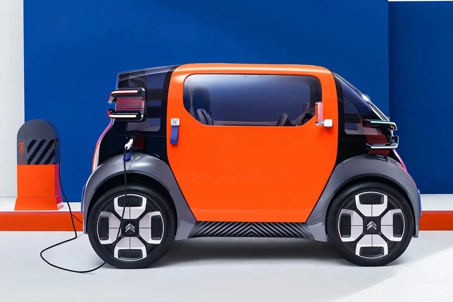 雪铁龙发布了一辆小纯电动车 有点可爱