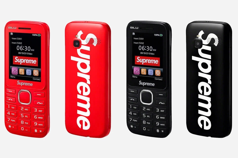 Blu推出Supreme联名功能机 比砖头有用多了