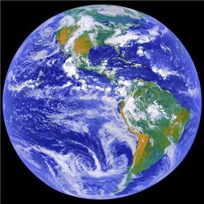 你看这地球,多美啊!(GOSE-8气象卫星于地球静止轨道上拍摄)图片来源NASA