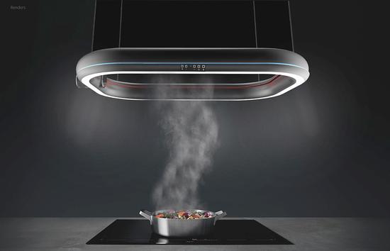 """悬浮半空的炫酷""""UFO"""" 实际是个抽油烟机"""