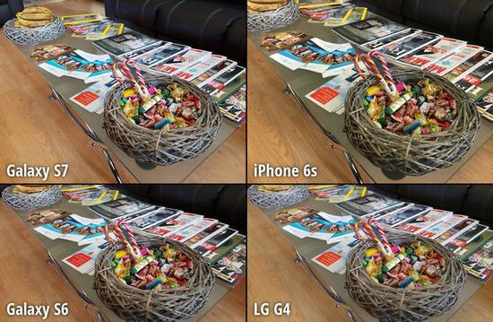 ▲ 三星 Galaxy S6 / S7 樣張對比. 圖片來自:Phone Arena