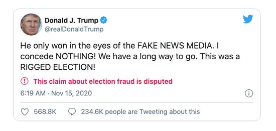 大选后,100万美国人离开了Twitter