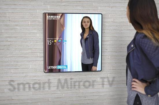 三星智能镜面电视外观设计专利曝光