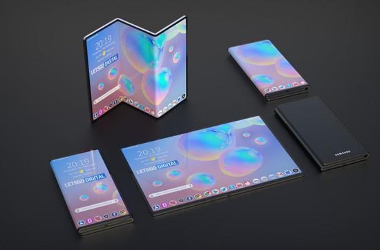 三星Z字形双折叠手机专利获批:设计简洁 灵活多变