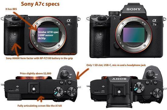 索尼紧凑型全幅微单A7c价格曝光:比A7III贵200欧元
