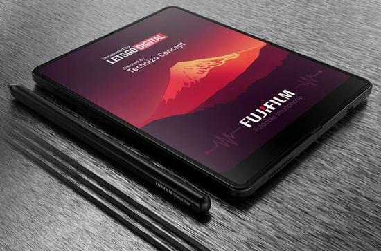 富士折叠屏手机专利公开 类似三星Z Fold还支持手写笔