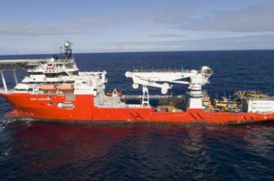 美国海底探索公司海洋无限公司的搜索船只(图源:马来西亚《星报》)
