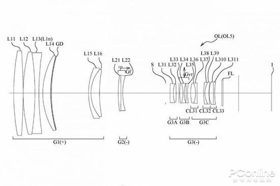 尼康今年2月公开的600mm f/5.6镜头专利图