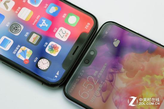 左上为iPhoneX右下为华为P20Pro