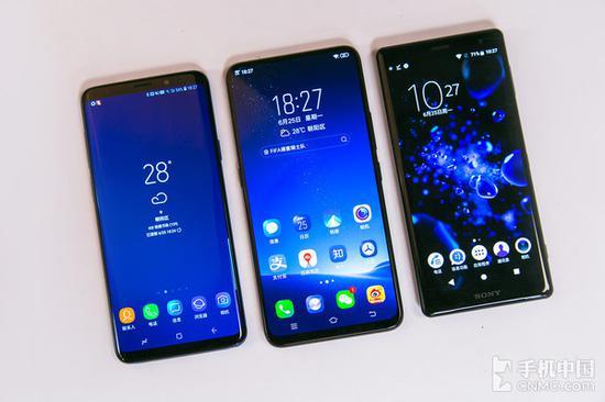 三台非刘海屏手机图片
