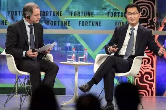 ▲马化腾参加广州《财富》论坛,谈到赋能问题