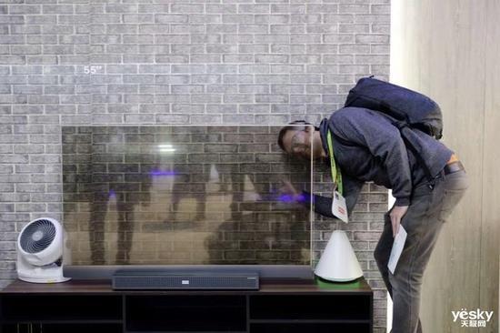 透明屏幕的電視