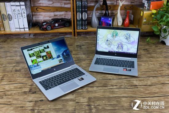 右侧是友人购买的零售工作机 左侧是AMD送测机(贴纸来自桌面锐龙3 2200G)