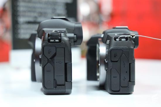相机侧面对比