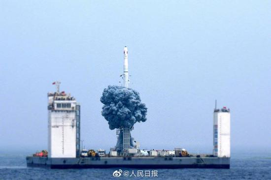 海上发射的长征十一号火箭,采用冷发射技术