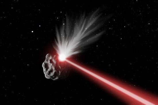激光烧蚀小行星