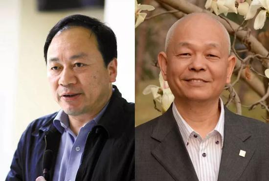 王克勤(左)和包月阳(右)