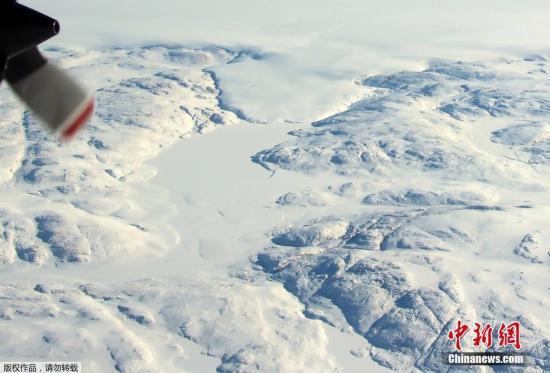 資料圖:格陵蘭島冰川。