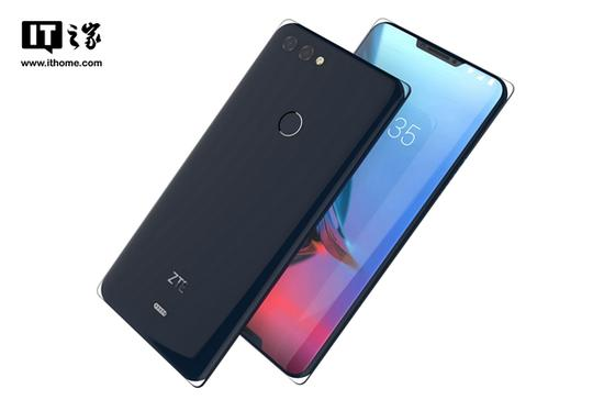 """中兴""""冰山""""手机设计图曝光:双刘海玻璃覆盖"""
