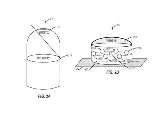微软新专利:包含鱼眼镜头和麦克风阵列的AI设备