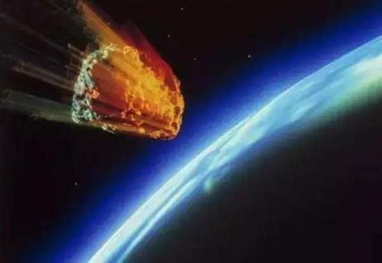 进入地球大气层被高温烧蚀的陨石示意图,图自网络