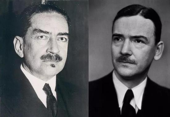 图丨汉斯·冯·奥伊勒-切尔平(左)和乌尔夫·冯·奥伊勒-切尔平(右)