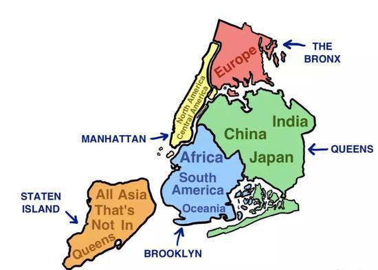 纽约可以容纳地球上全部73亿人口(按行政划分)