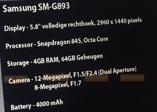 三星S9 Active曝光:4000mAh电池/BT级防水抗摔总裁玩够没流年无语