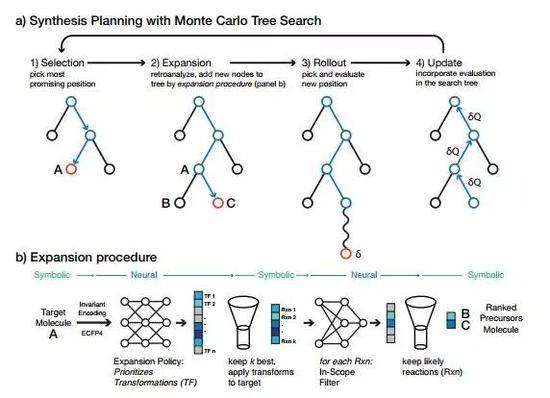 图丨AI算法探索不同的化学路径并选择成功率最高的