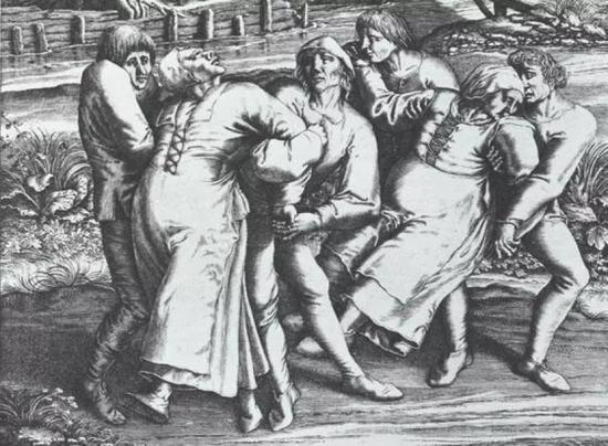 "欧洲人曾深受""舞蹈狂热""(dancing mania)的困扰。图源:Getty Images"