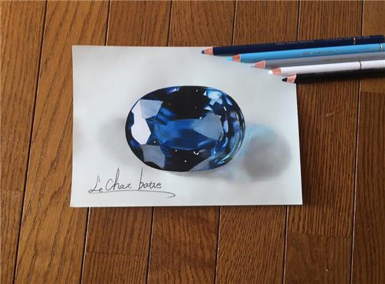 15岁日本天才绘画师用铅笔画出超逼真宝石