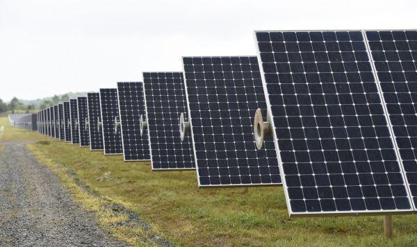 资料图片:美国北卡罗来纳州梅登的一处太阳能电池阵。(新华社)