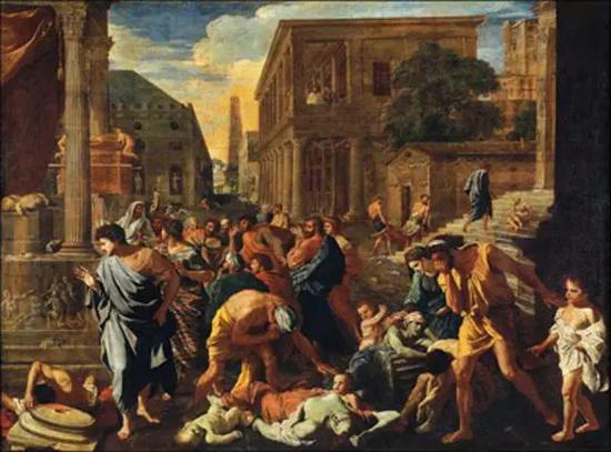 《阿什杜德的瘟疫》(The Plague of Ashdod), Nicolas Poussin (1594-1665) (圖片來源:Wikipedia)