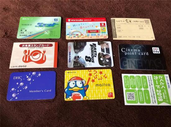 積分卡/會員卡/充值卡,這些僅僅是我錢包中的一小部分