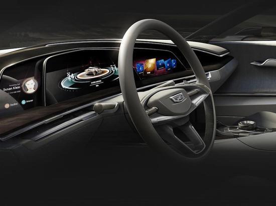 凯迪拉克Escala Concept的OLED屏幕(图源:Cadillac)