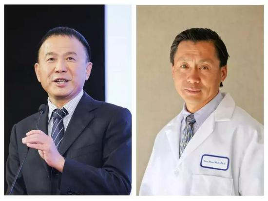 ▲本研究团队的负责人夏慧敏教授(左)与张康教授(右)