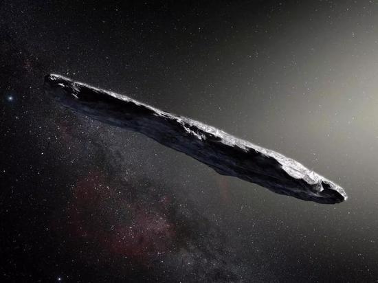 Oumuamua的假想图 (图片来源:ESO/M。 Kornmesser)。
