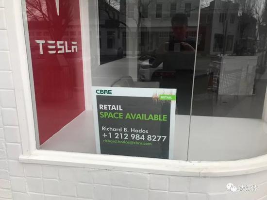 一家关停的特斯拉线下店,图片来自网络